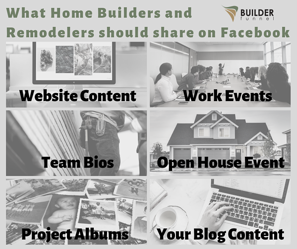 What Home Builders and Remodelers should share on Facebook